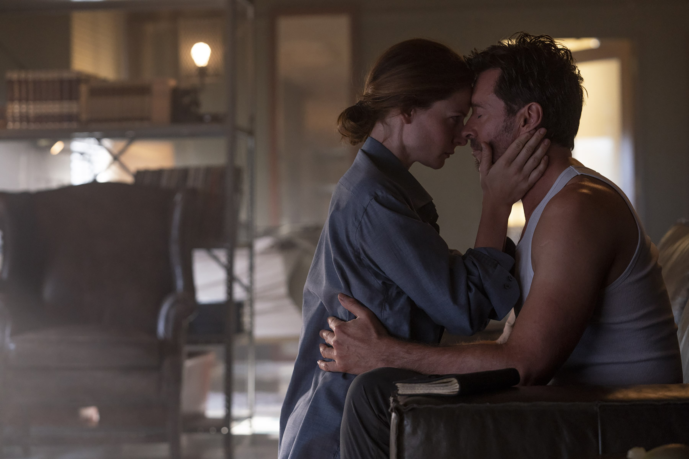 Hugh Jackman and Rebecca Ferguson star in Reminiscence.
