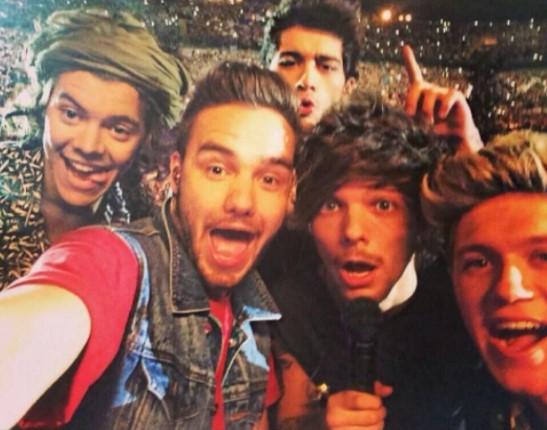 One Direction stars Niall Horan, Zayn Malik, Harry Styles, Louis Tomlinson and Liam Payne.