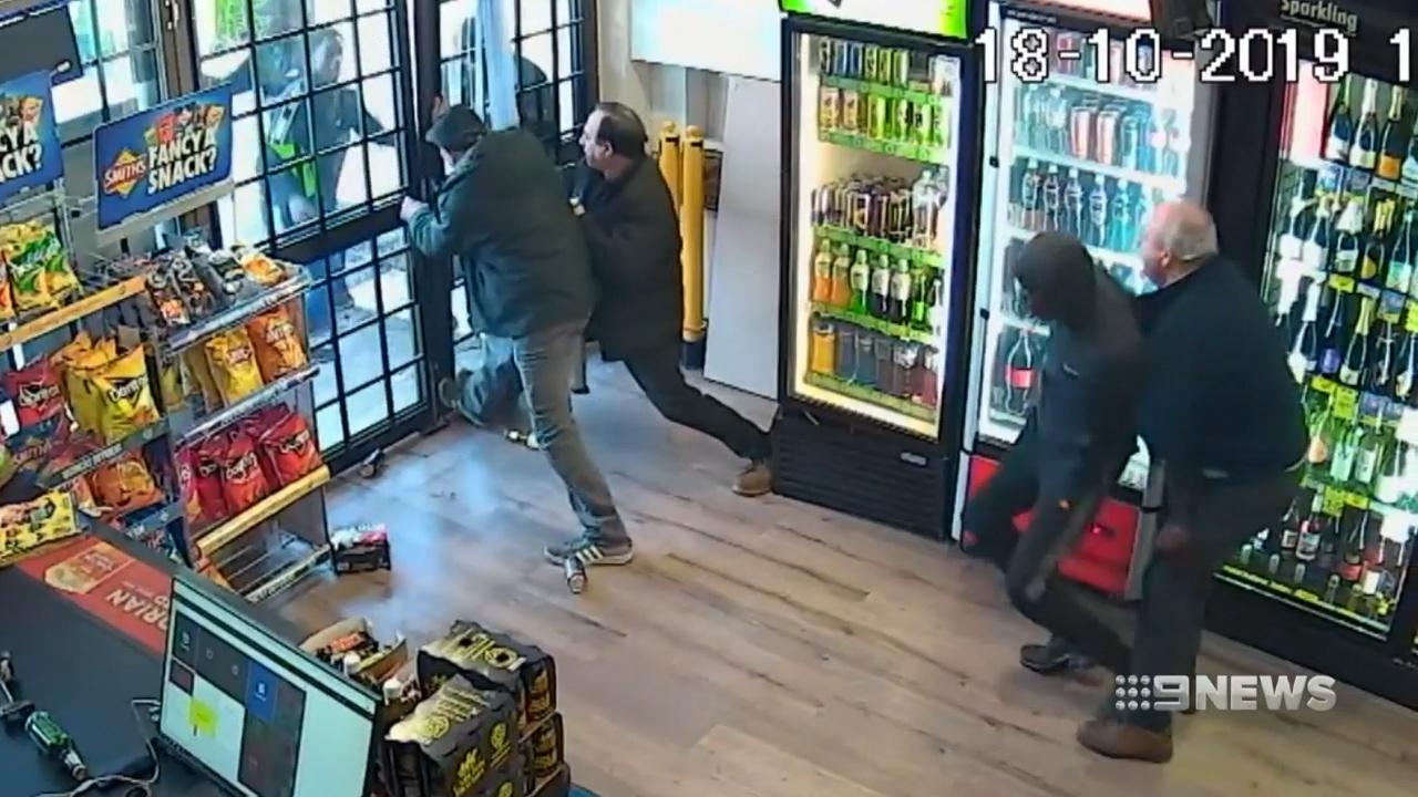 Grandfather risks life defending family store