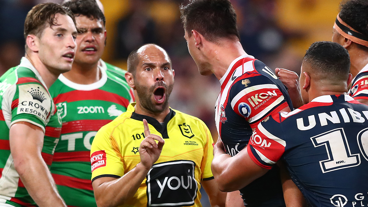 Latrell Mitchell tackle on Joseph Manu, Roosters reaction, Phil Gould podcast comments