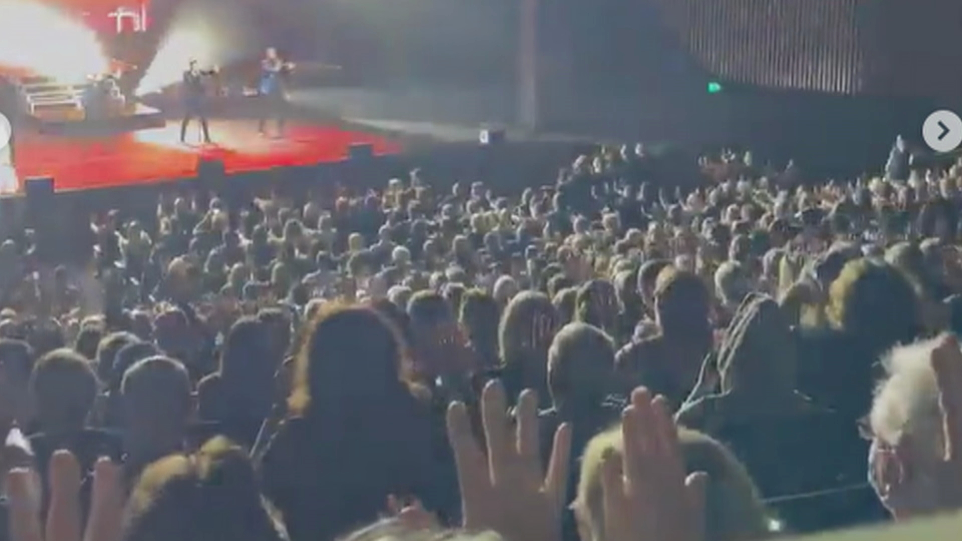 The seated crowd at a Human Nature concert in Sydney.