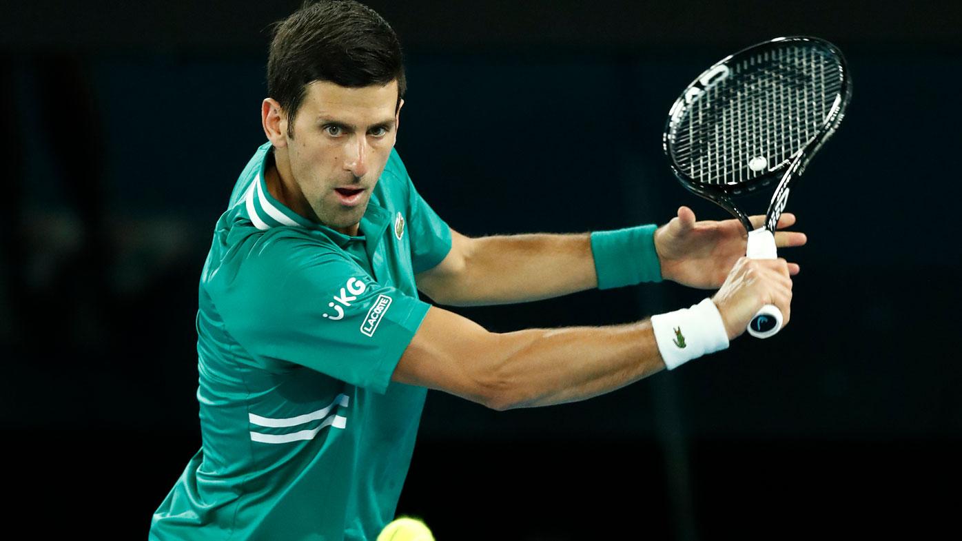 Novak Djokovic storms into the second-round. (Getty)