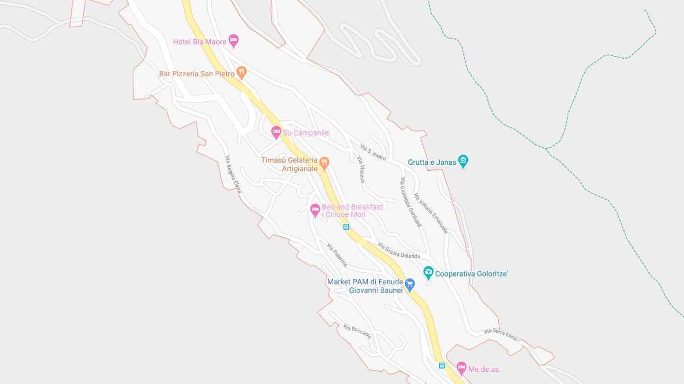 Do not follow Google Maps' directions, a Sardinian town is urging tourists.