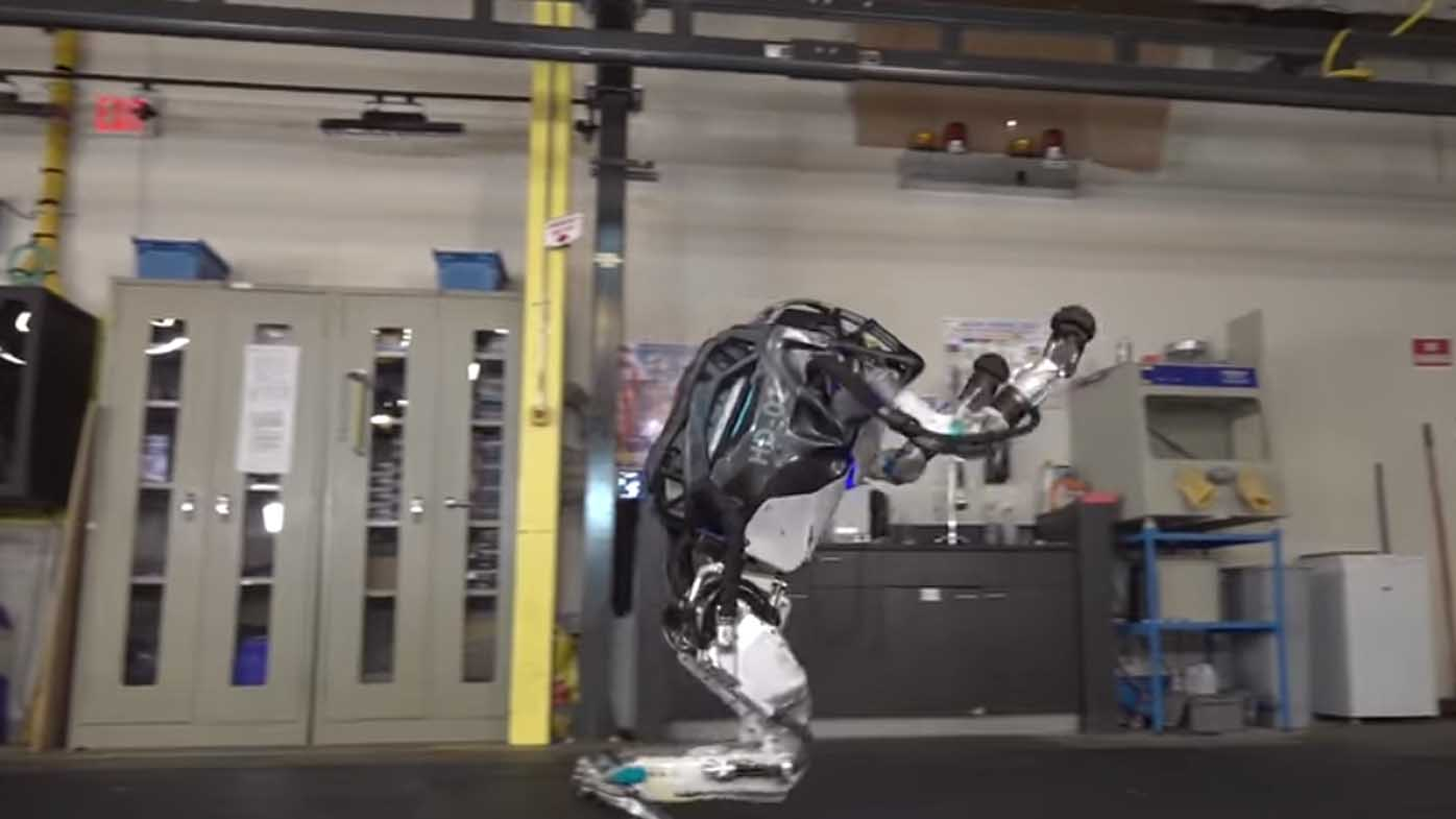 'Humanoid robot' performs unsettling gymnastics routine