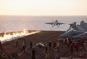 Jet taking off from USS Theodore Roosevelt (Getty)