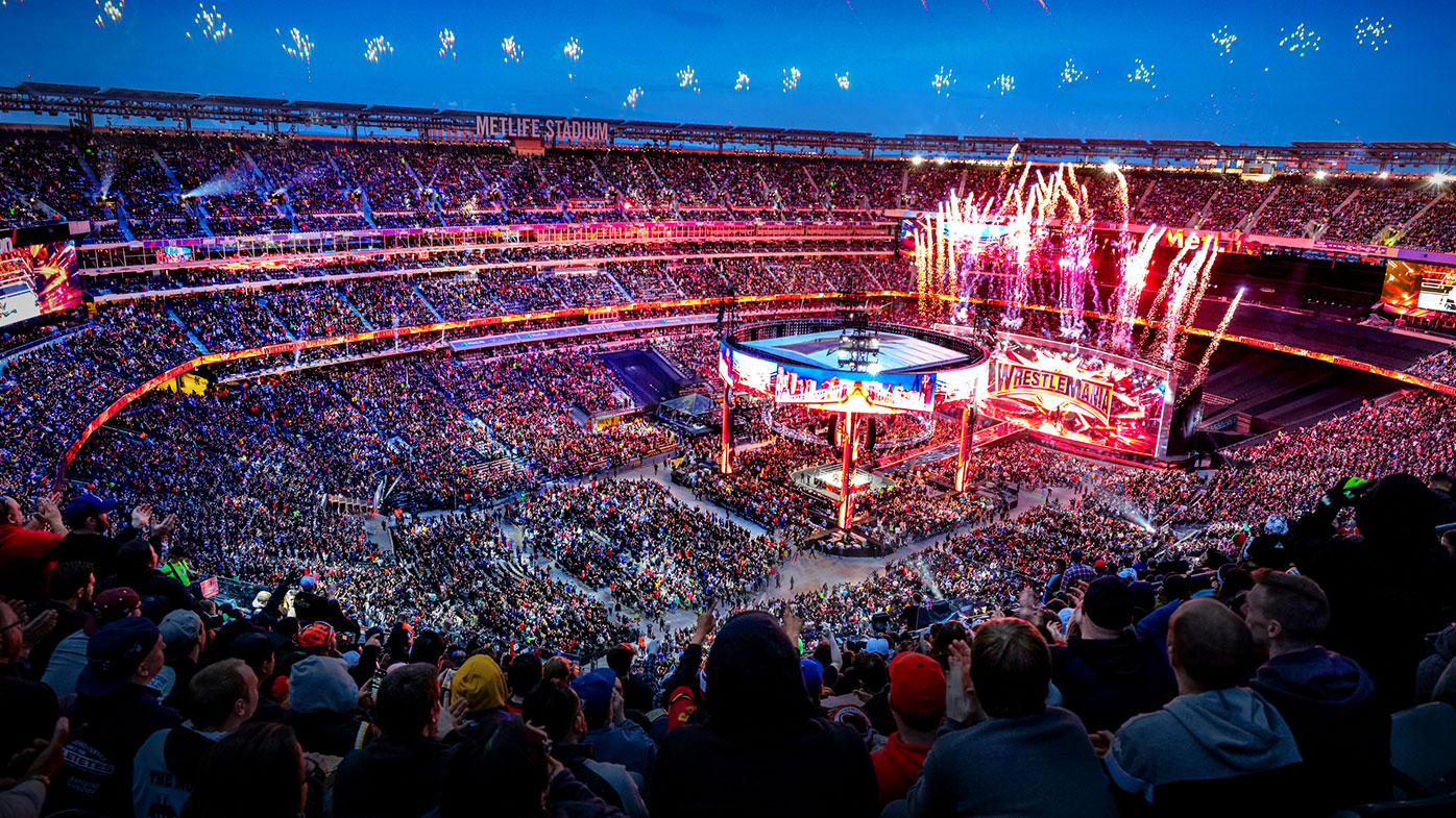 How WrestleMania looked back in 2019 at MetLife Stadium, East Rutherford, New Jersey, United States