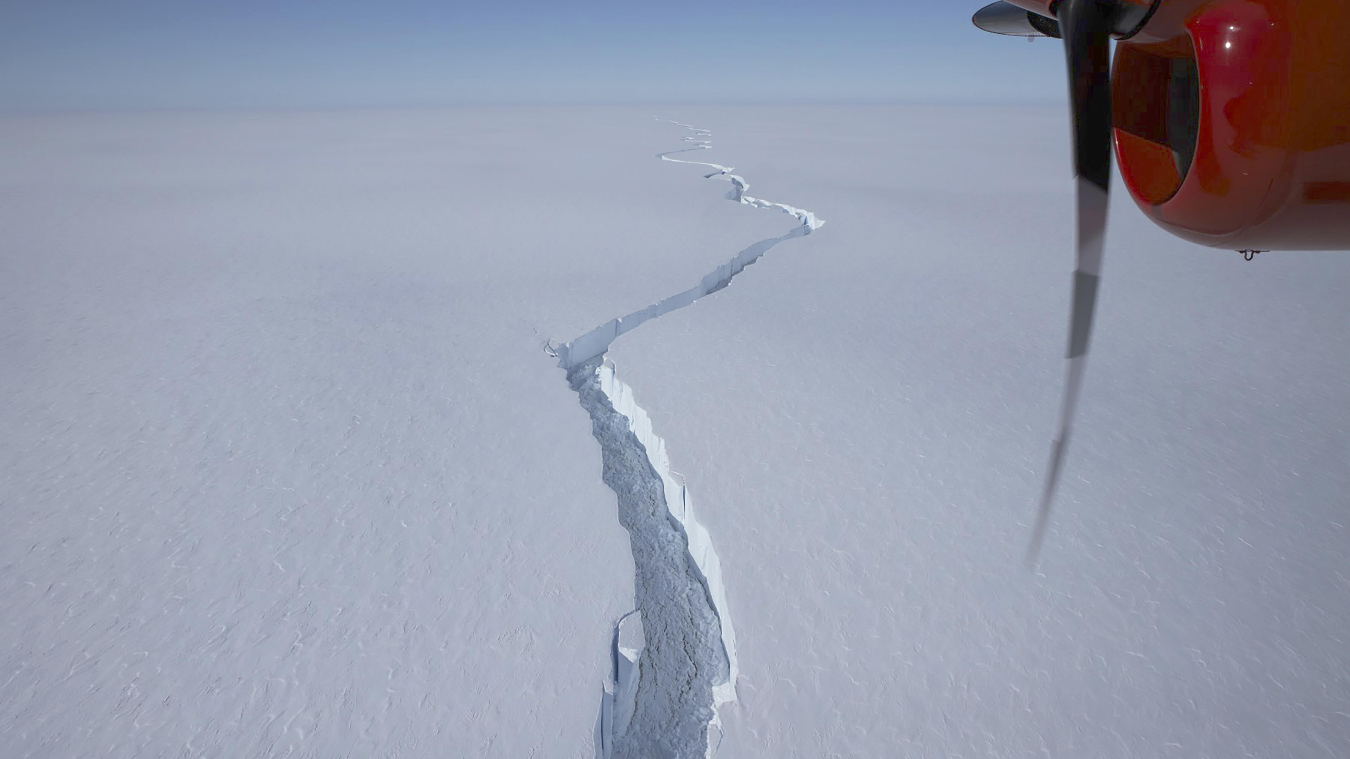 Iceberg bigger than New York City broke off ice shelf in Antarctica