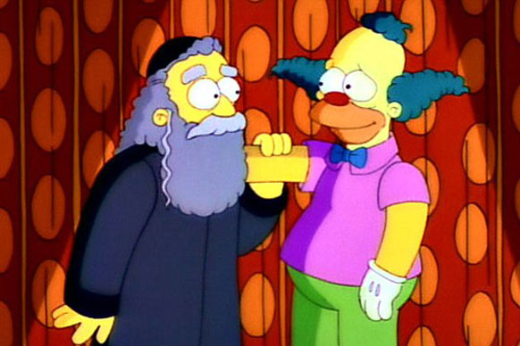"""After showrunner Al Jean teased the death of a """"beloved"""" character, <i>Simpsons</i> fan speculation went into overdrive for months. A promo for season 26's premiere even hinted at Homer getting his marching orders!<br/><br/>SPOILER ALERT: They killed off the Clown's father Rabbi Hyman Krustofski (voiced by Jackie Mason). Who? Fans were let down big time after all the marketing hype."""