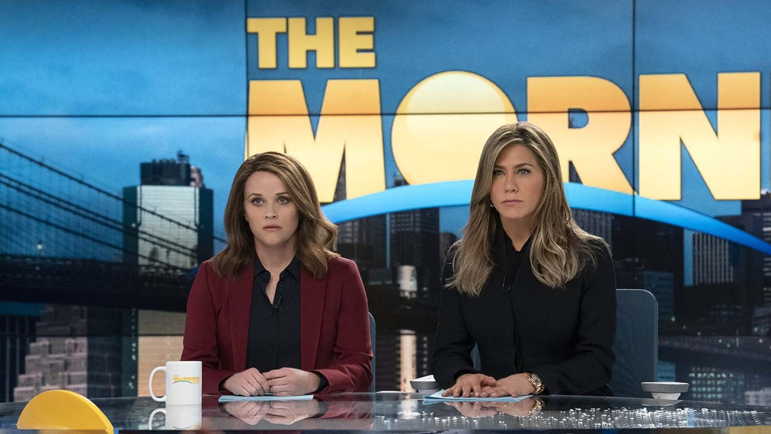 Jennifer Aniston and Reese Witherspoon star in The Morning Show.
