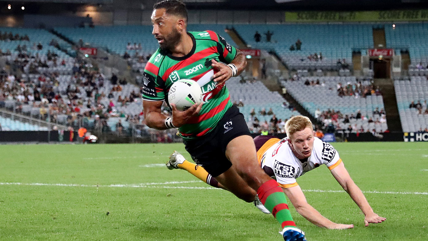 Benji Marshall finds a four-pointer for Souths. (Getty)