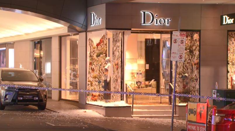 Dior store ram-raided by balaclava-clad thieves