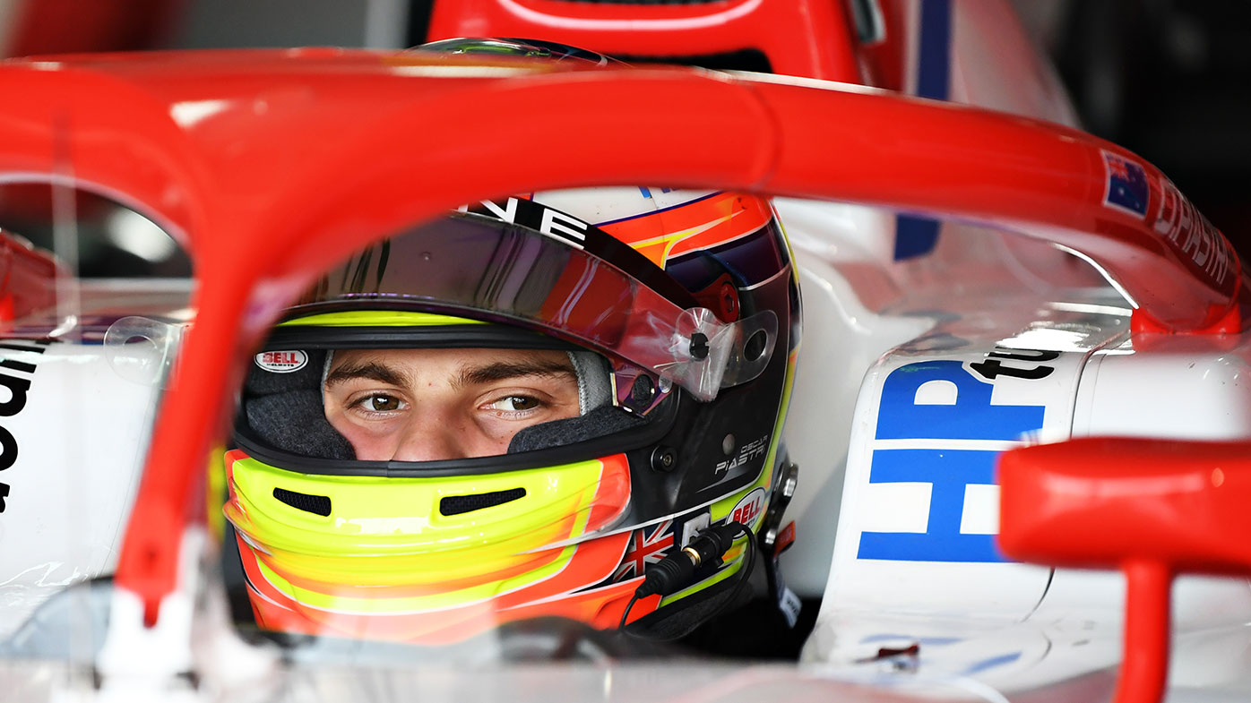 Oscar Piastri during F2 pre-season testing in Bahrain.