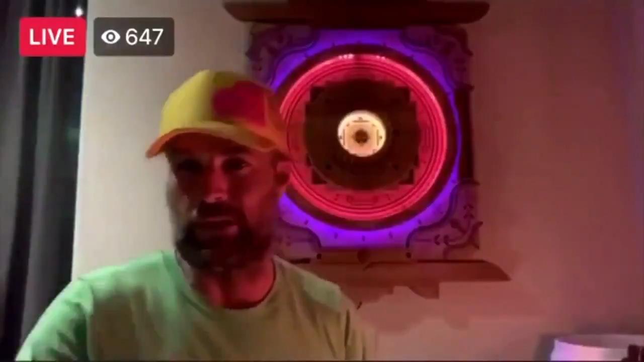 Pete Evans in a live Instagram video.