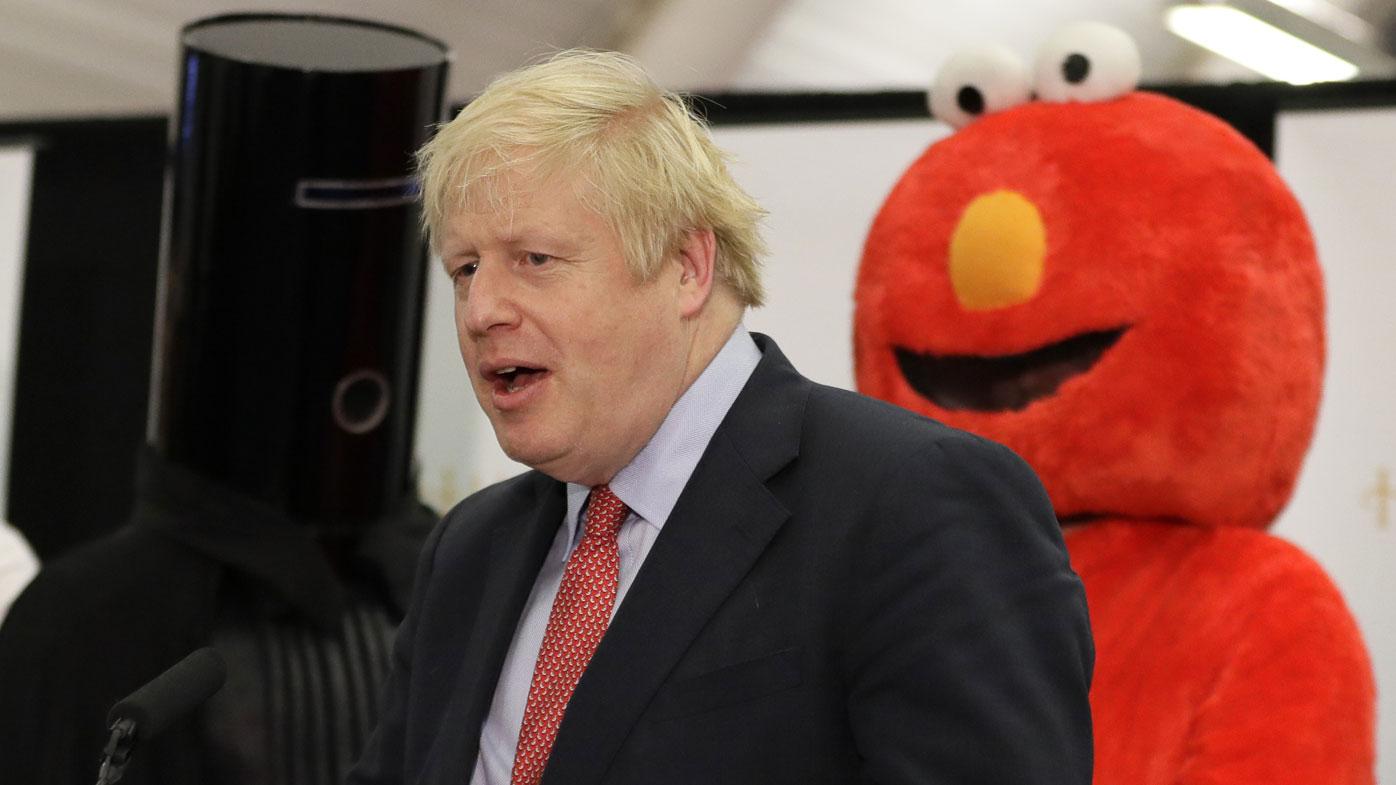 Lord Buckethead, Boris Johnson and Elmo.