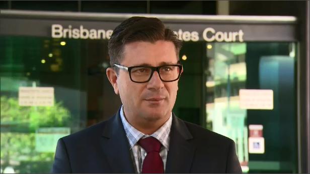 Suzi Taylor's Lawyer Michael Gatenby outside of Brisbane Magistrates Court.