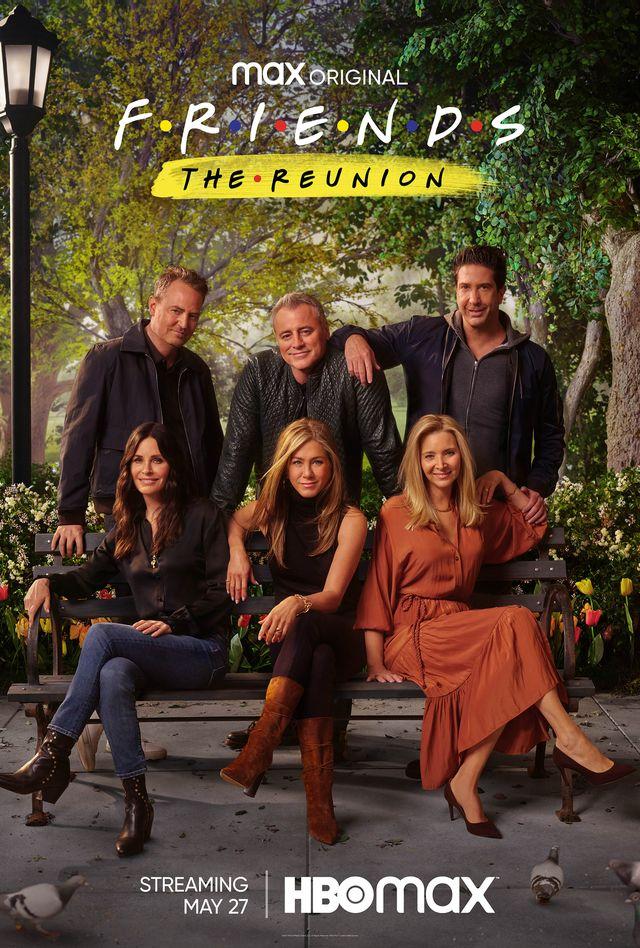 Friends cast, reunion, Matt LeBlanc, Matthew Perry, Jennifer Aniston, Courteney Cox, Lisa Kudrow, and David Schwimmer.