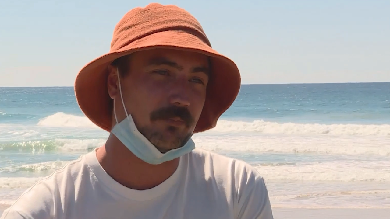 Hugh Riley was out in the water when Mr Thompson was attacked, and tried to save his life.