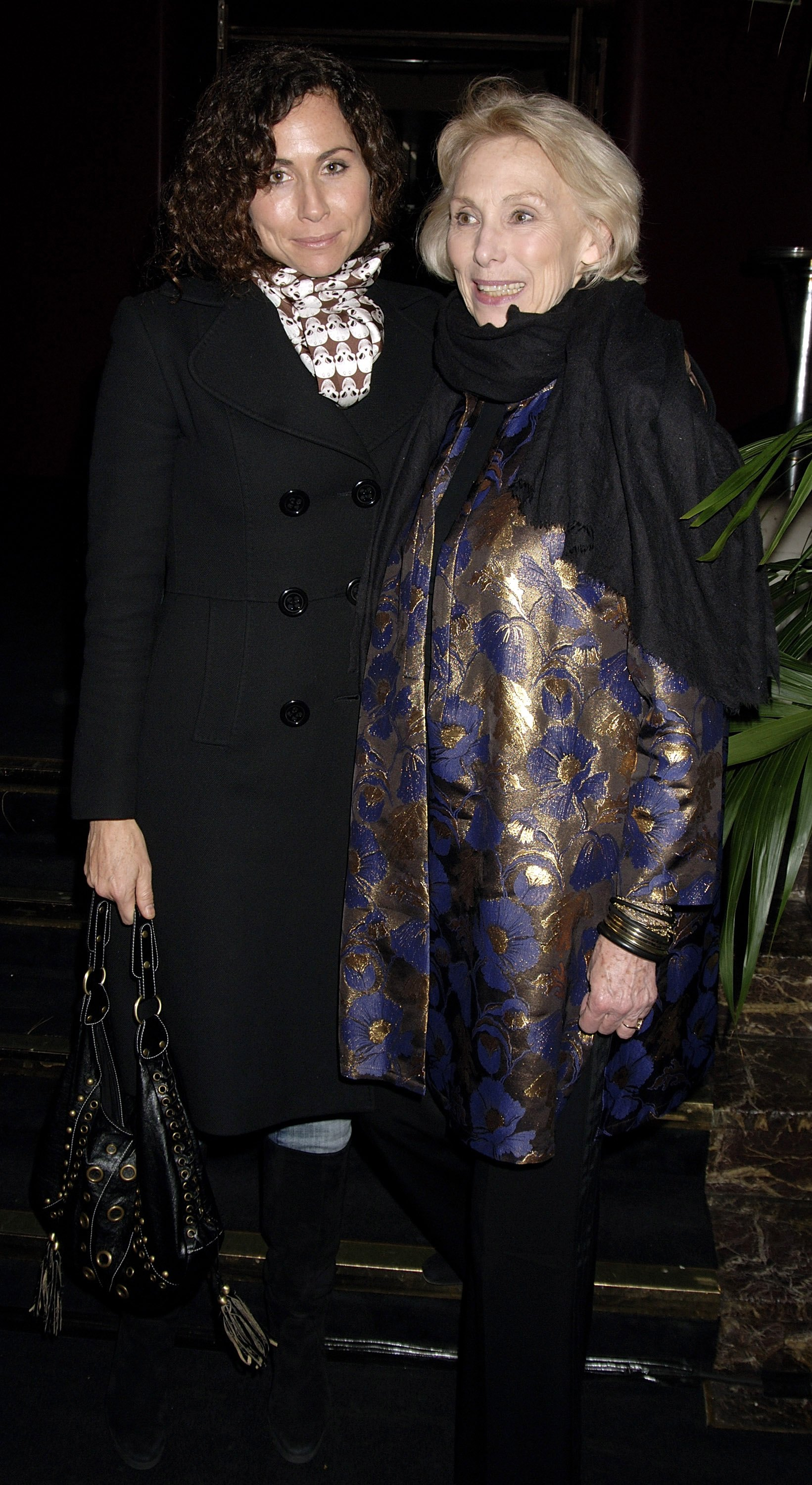 Actress Minnie Driver and her mother Gaynor Churchward