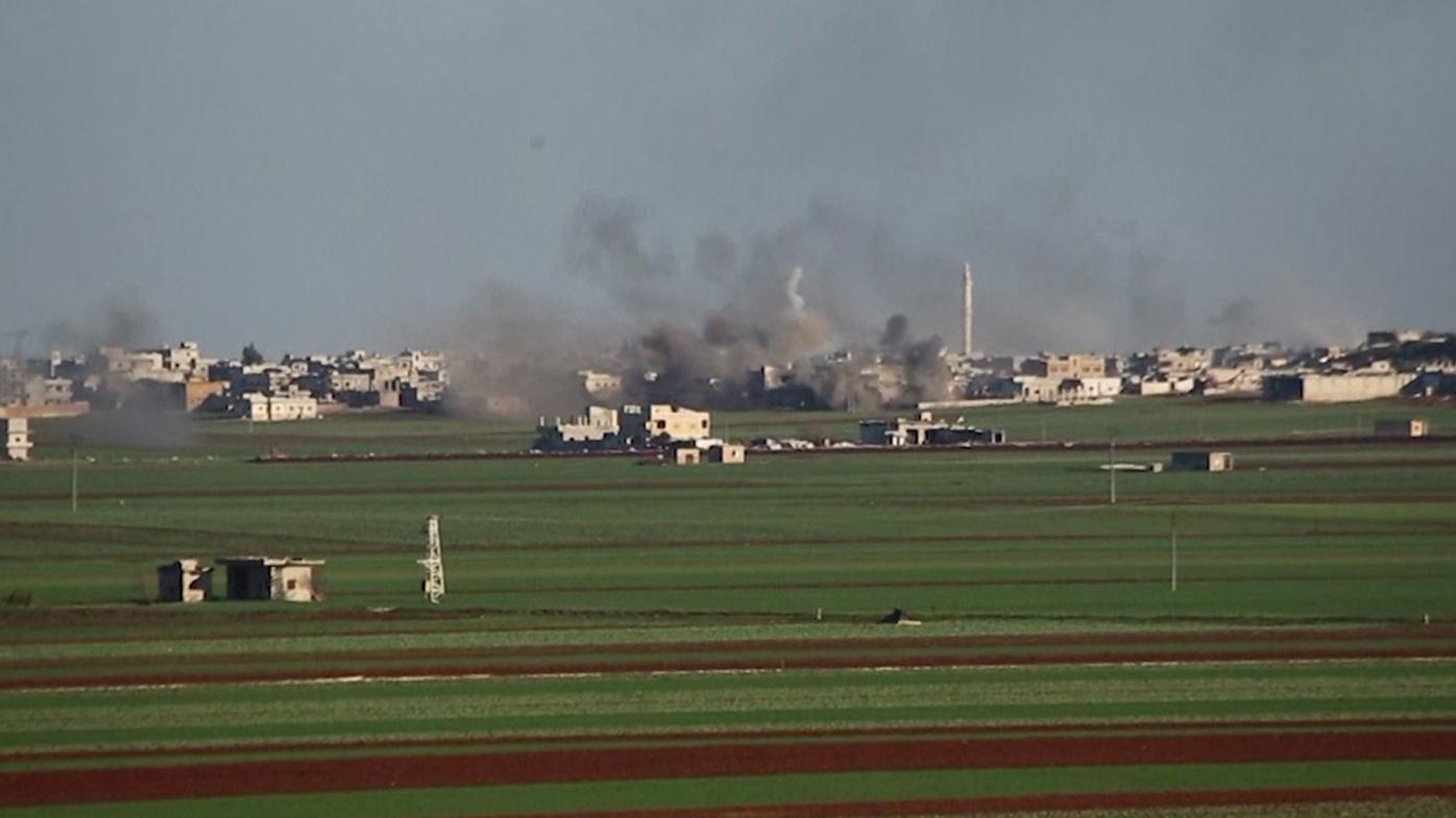 A Syrian airstrike on a Turkish base near Idlib has killed 29 soldiers.