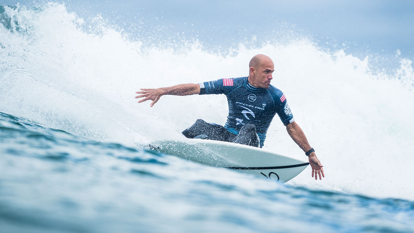 Kelly Slater in action at Bells Beach in 2019