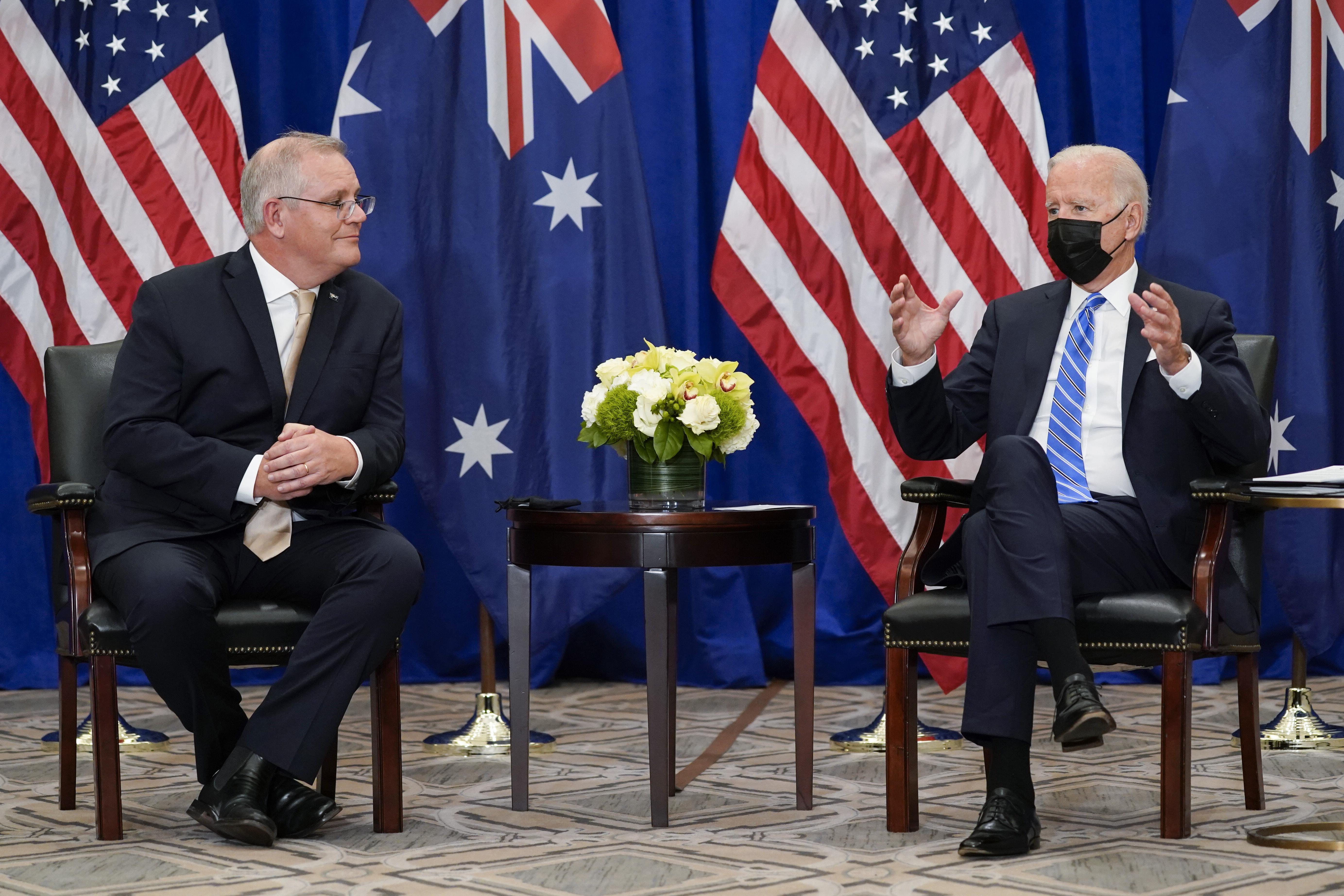 Morrison and Biden meet in New York