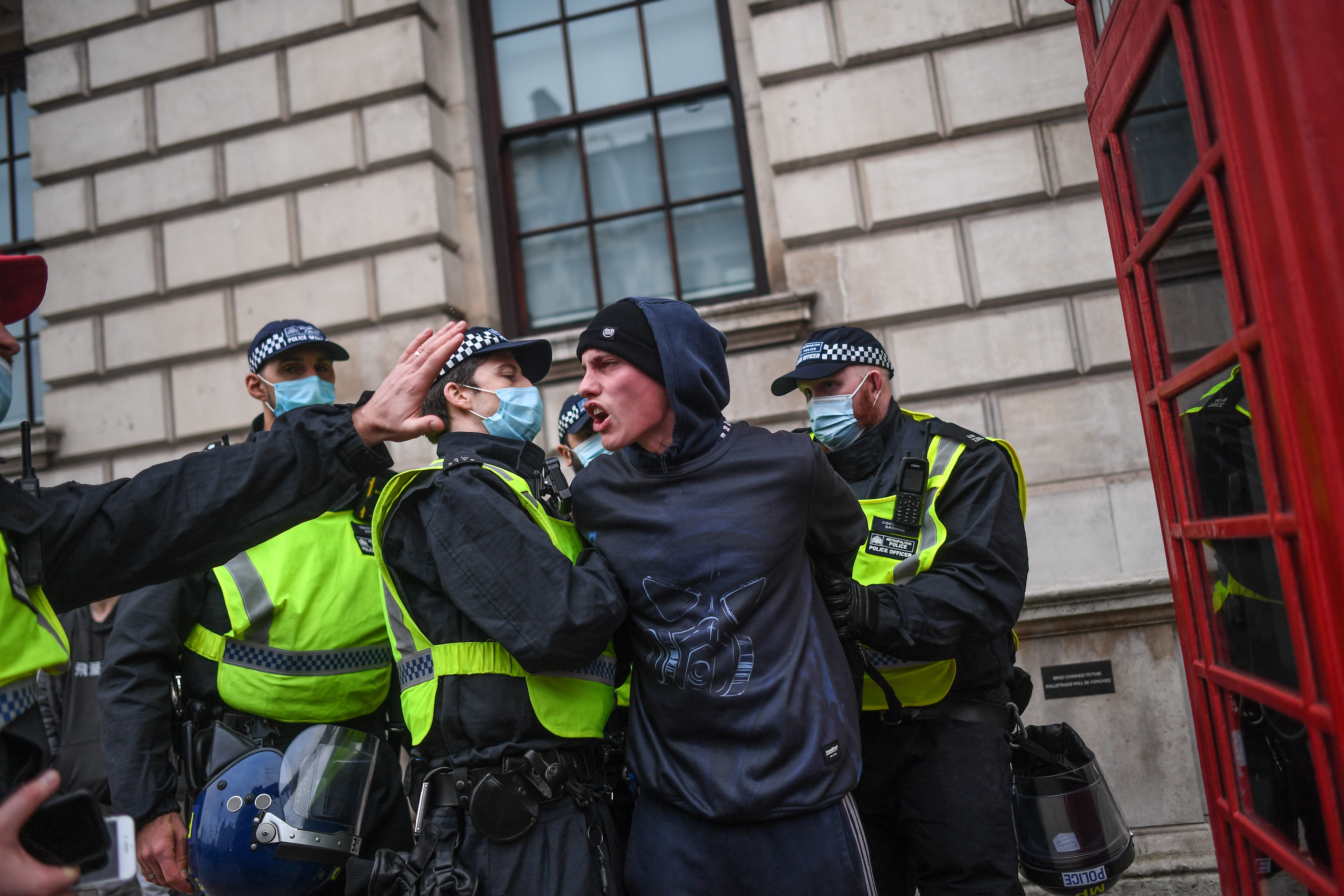 New restrictions spark protests in London