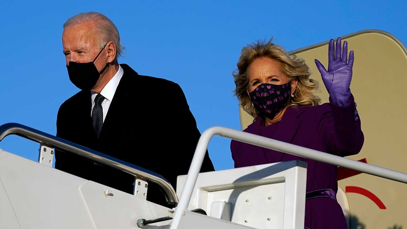 Biden arrives for inauguration with big plans, big problems