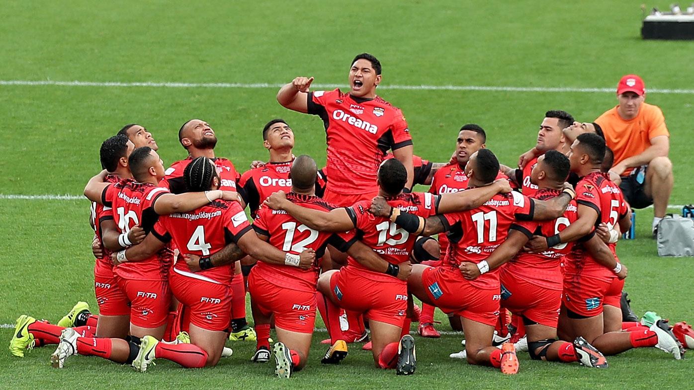 Tonga perform their Haka
