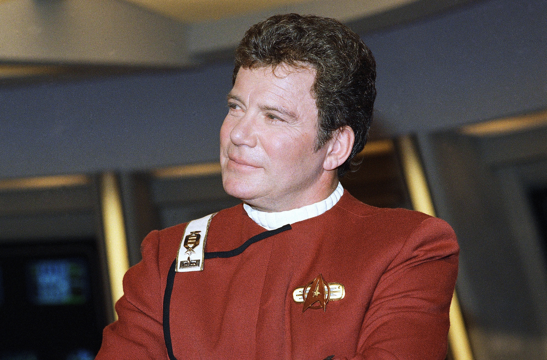 William Shatner dressed as Capt. James T. Kirk