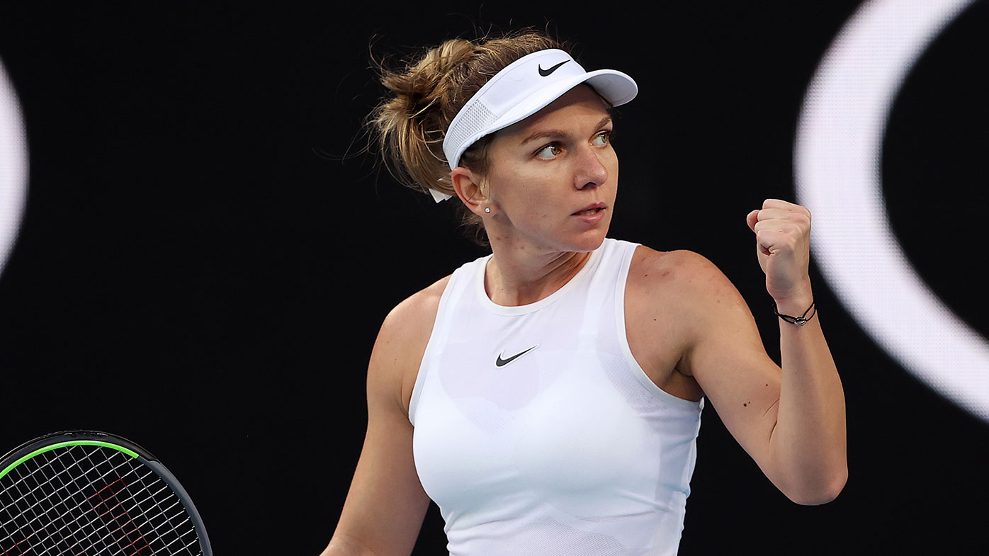 Australian Open: Halep braves falls, sore wrist to make winning Melbourne start