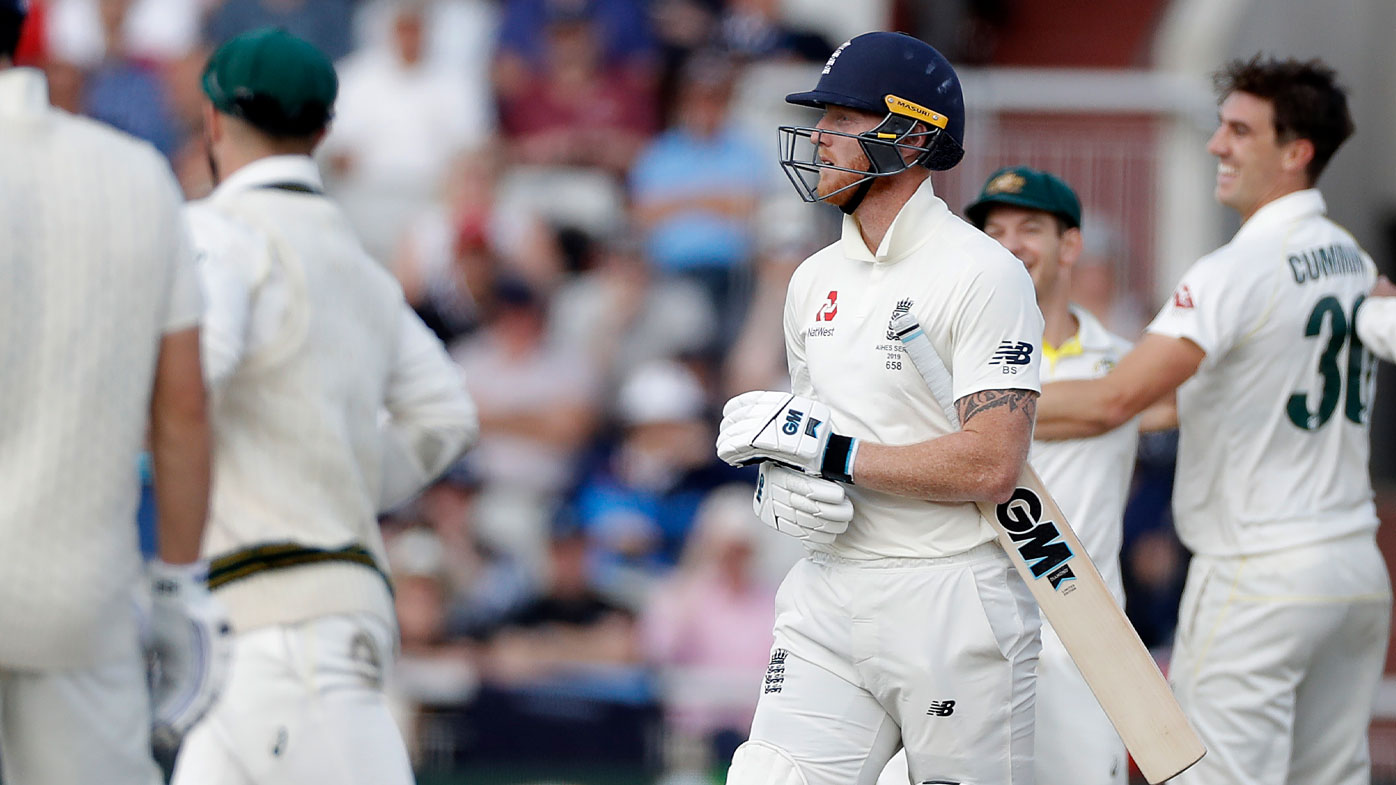 Stokes walks on day five after not being given out.