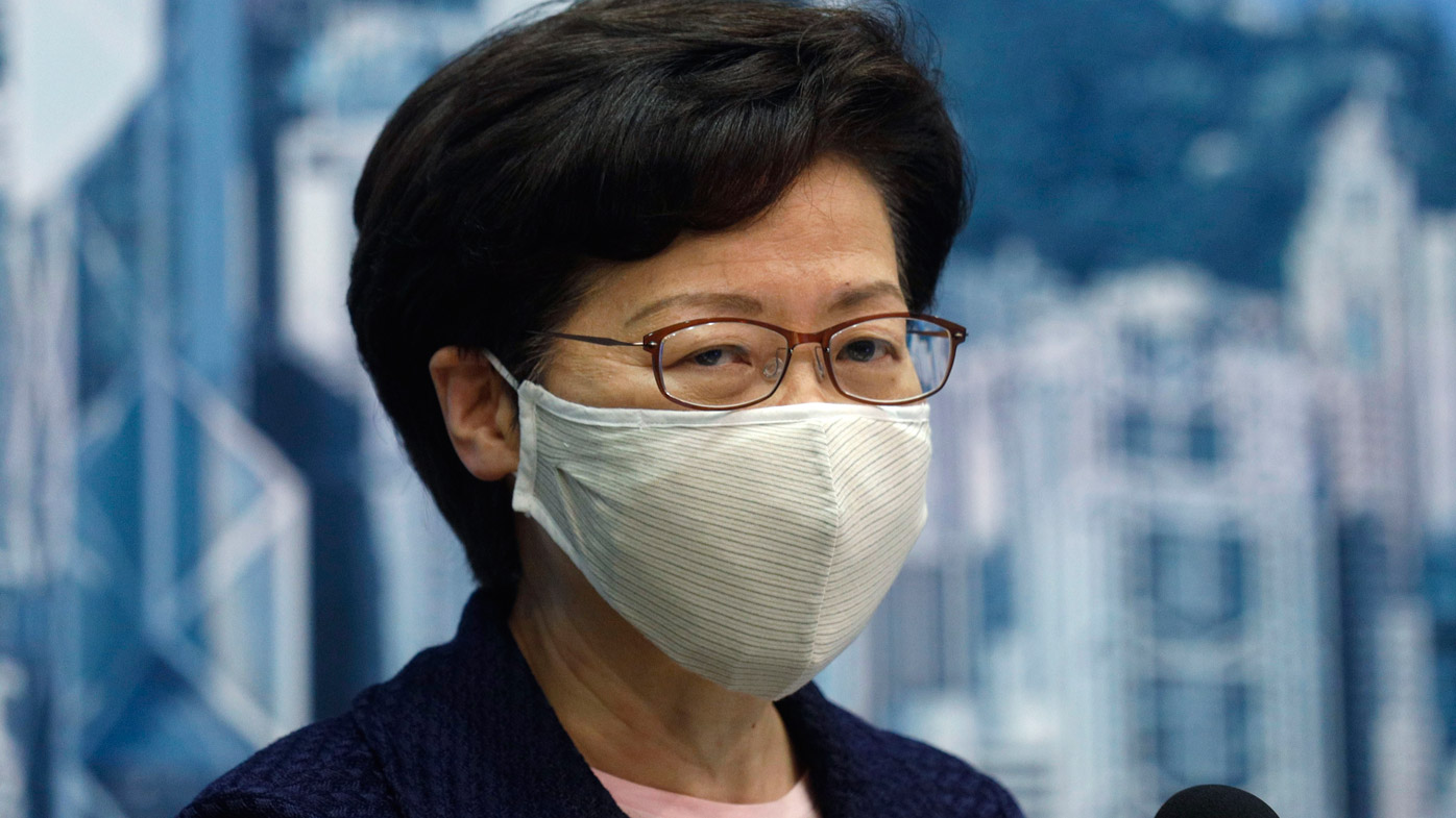 US sanctions pro-China leader of Hong Kong, other officials