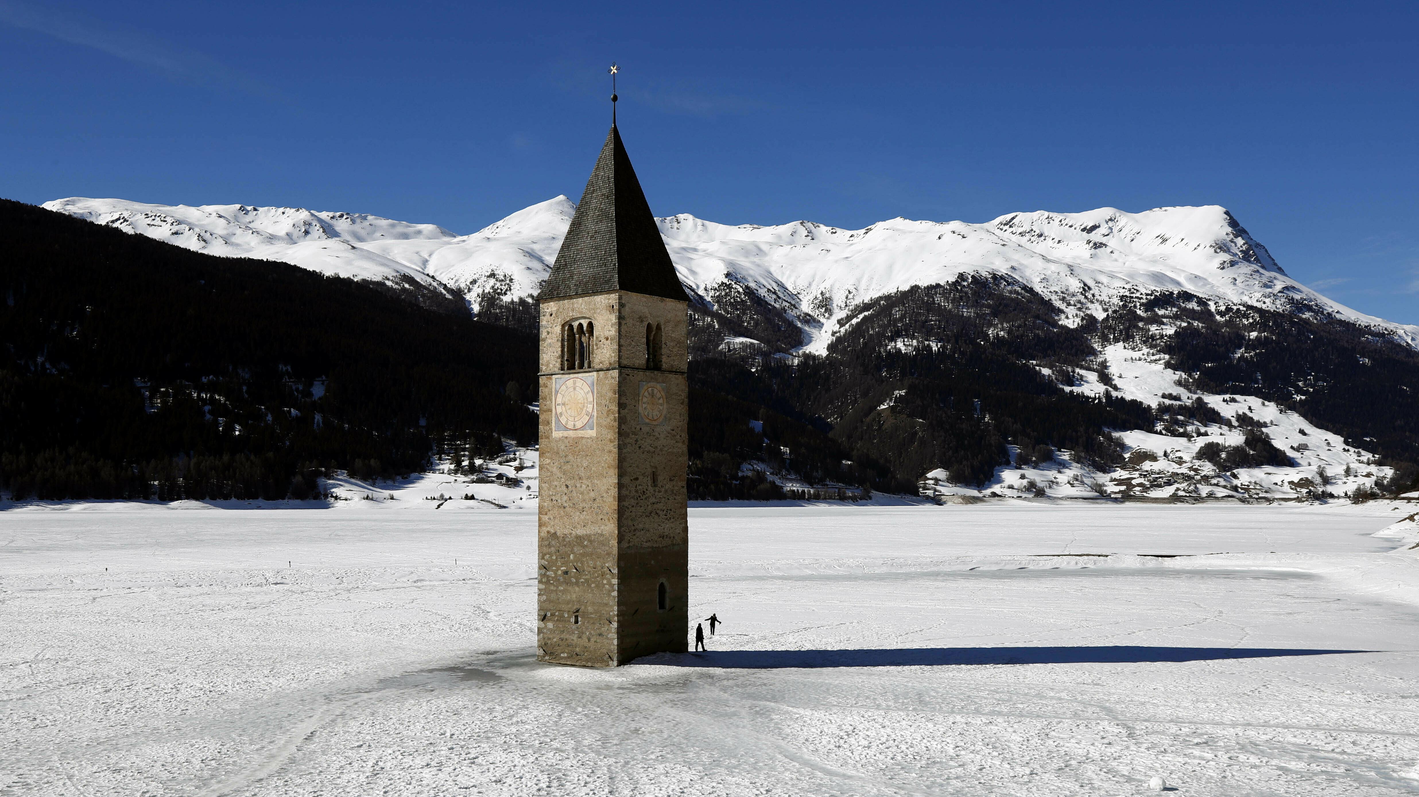 Italy hidden village Curon