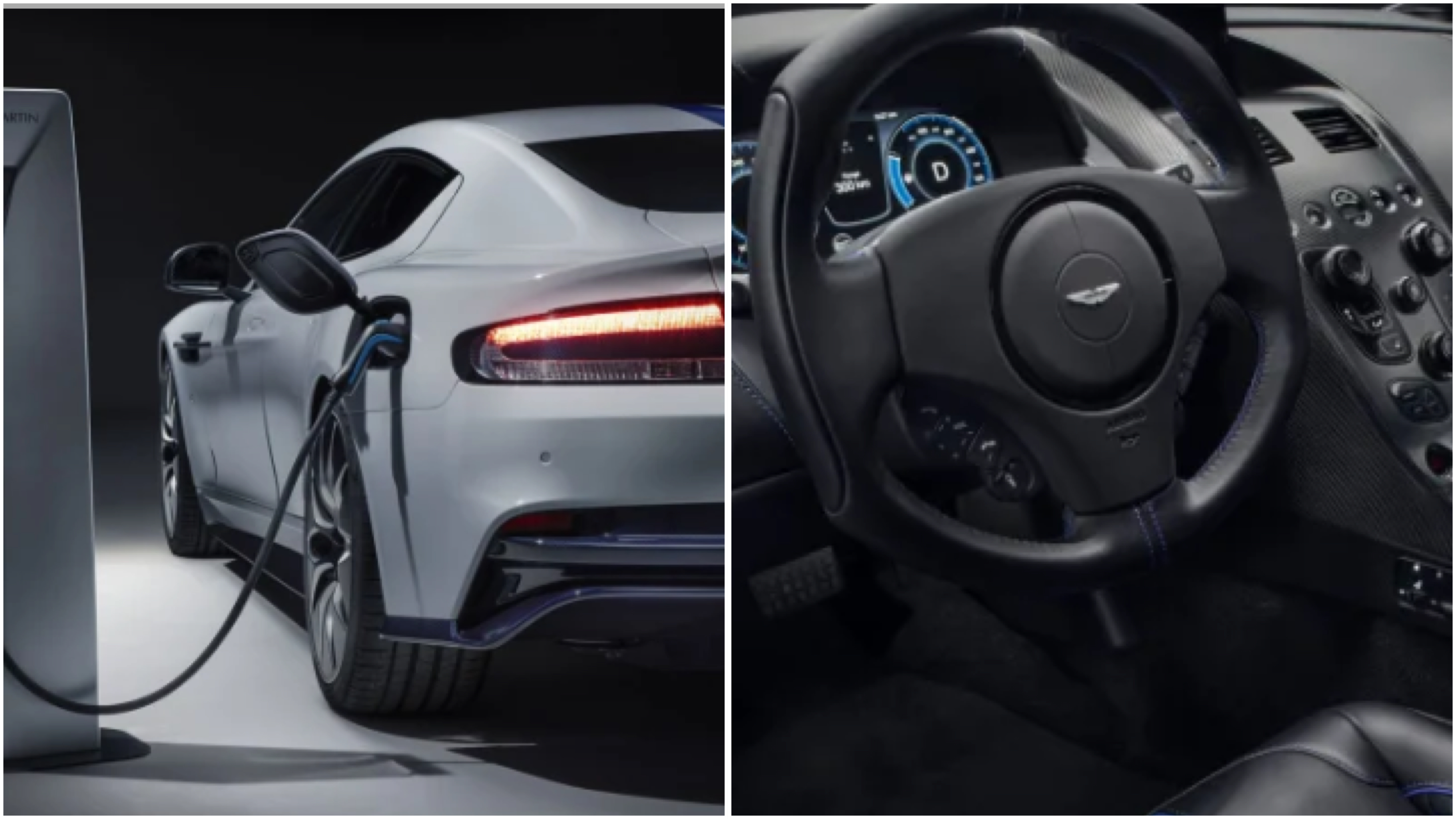 Luxury British brand Aston Martin unveiled their first electric car at the Shanghai Motor Show.
