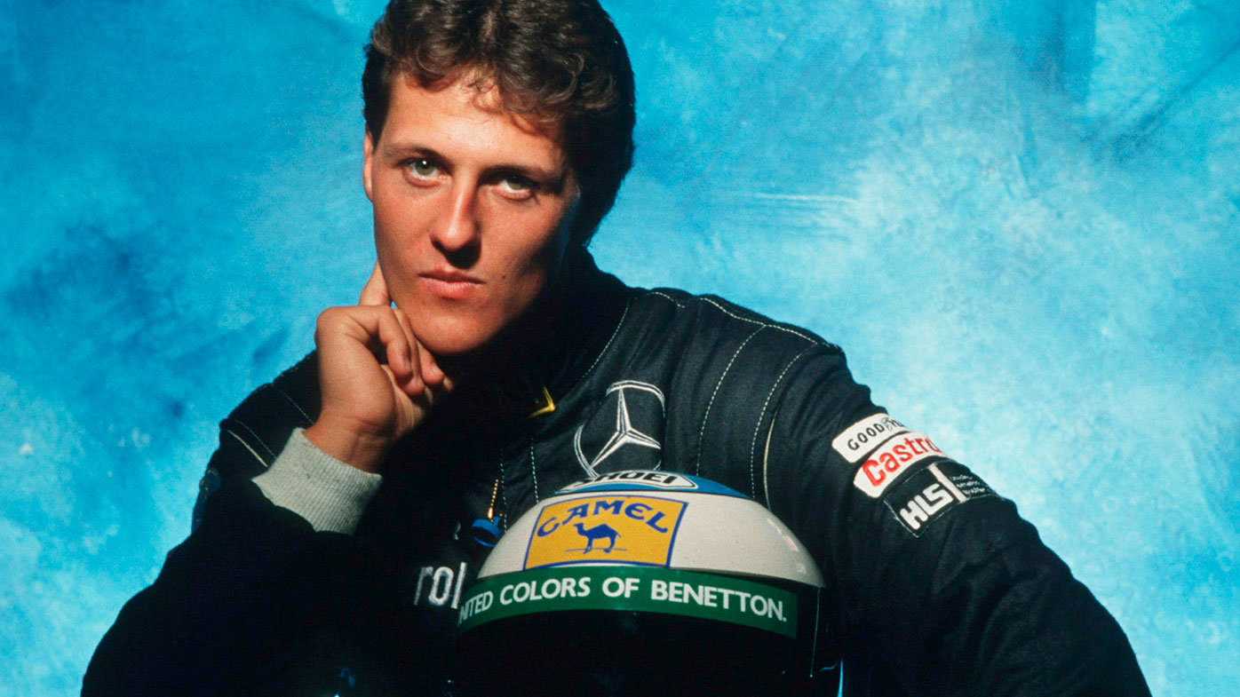 Michael Schumacher after signing for Benetton in 1991.