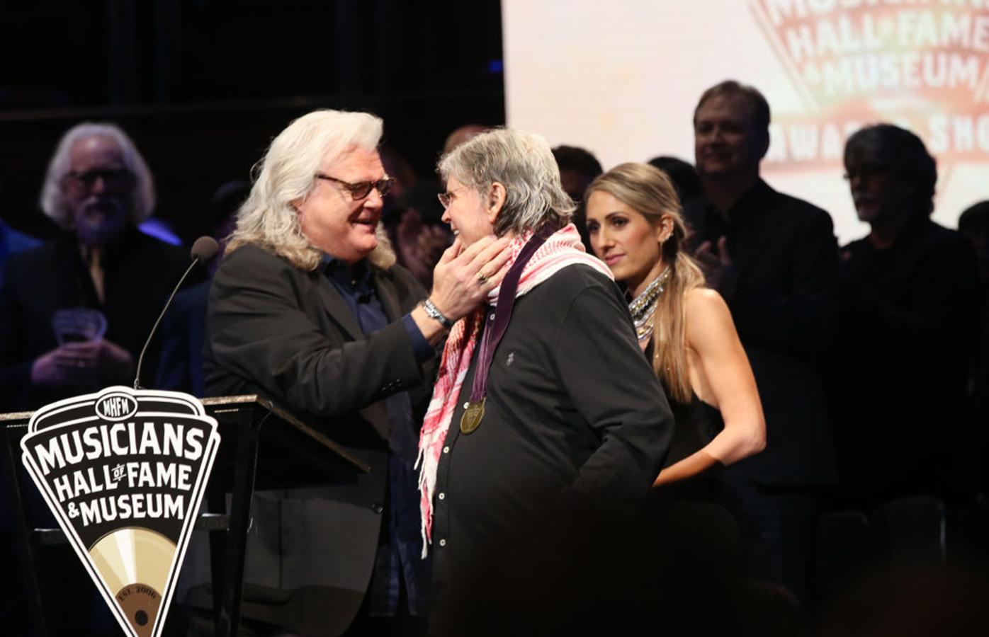 Inductee Don Everly speaks during the 2019 Musicians Hall of Fame Induction Ceremony & Concert.