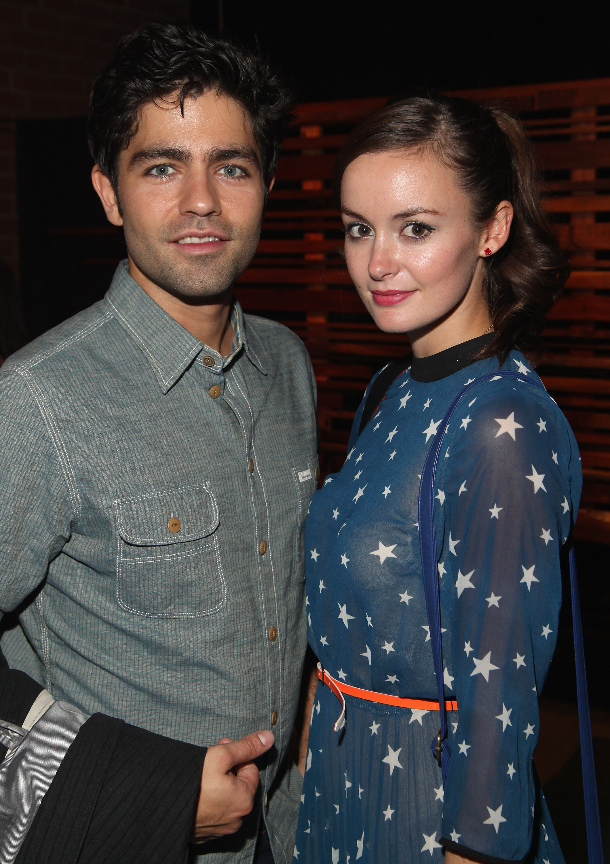 Adrian Grenier with Emily Caldwell in 2011.