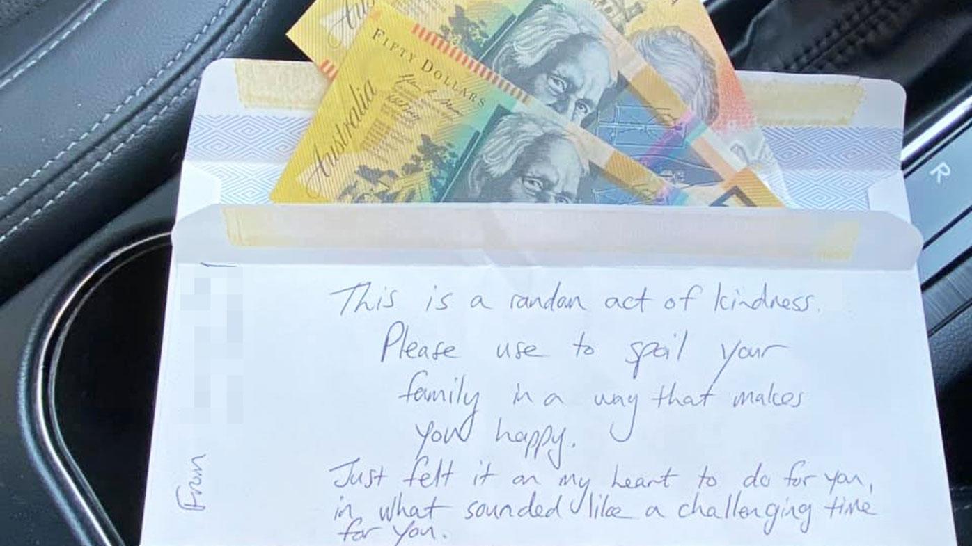 The envelope left inside the second-hand car Jen Willis bought.
