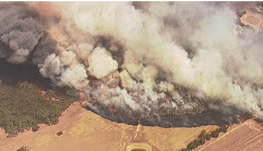 The extent of the blaze on Kangaroo Island.