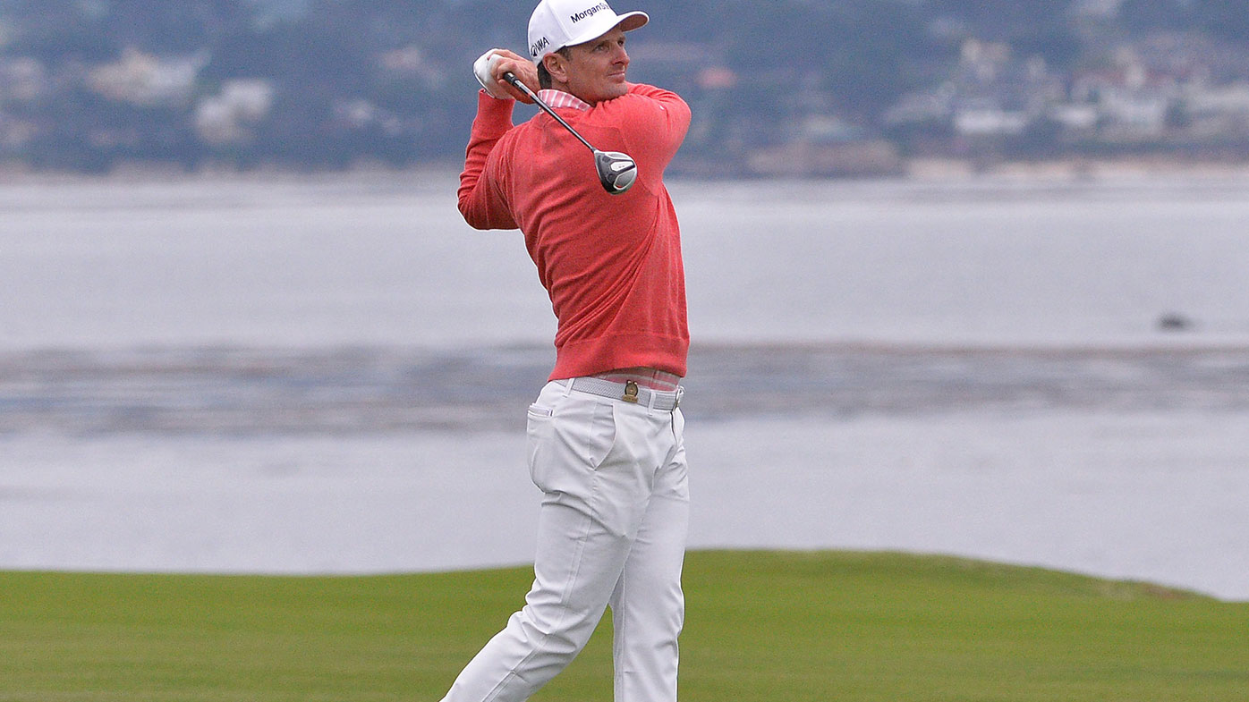 Justin Rose has equalled Tiger Woods' Pebble Beach scoring record.