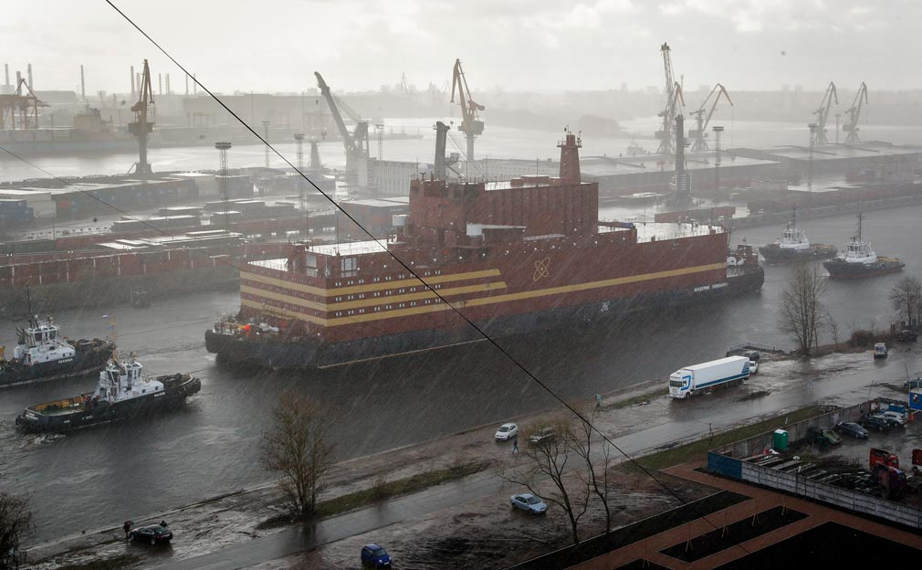 Russia launches 'floating Chernobyl' plant across Arctic