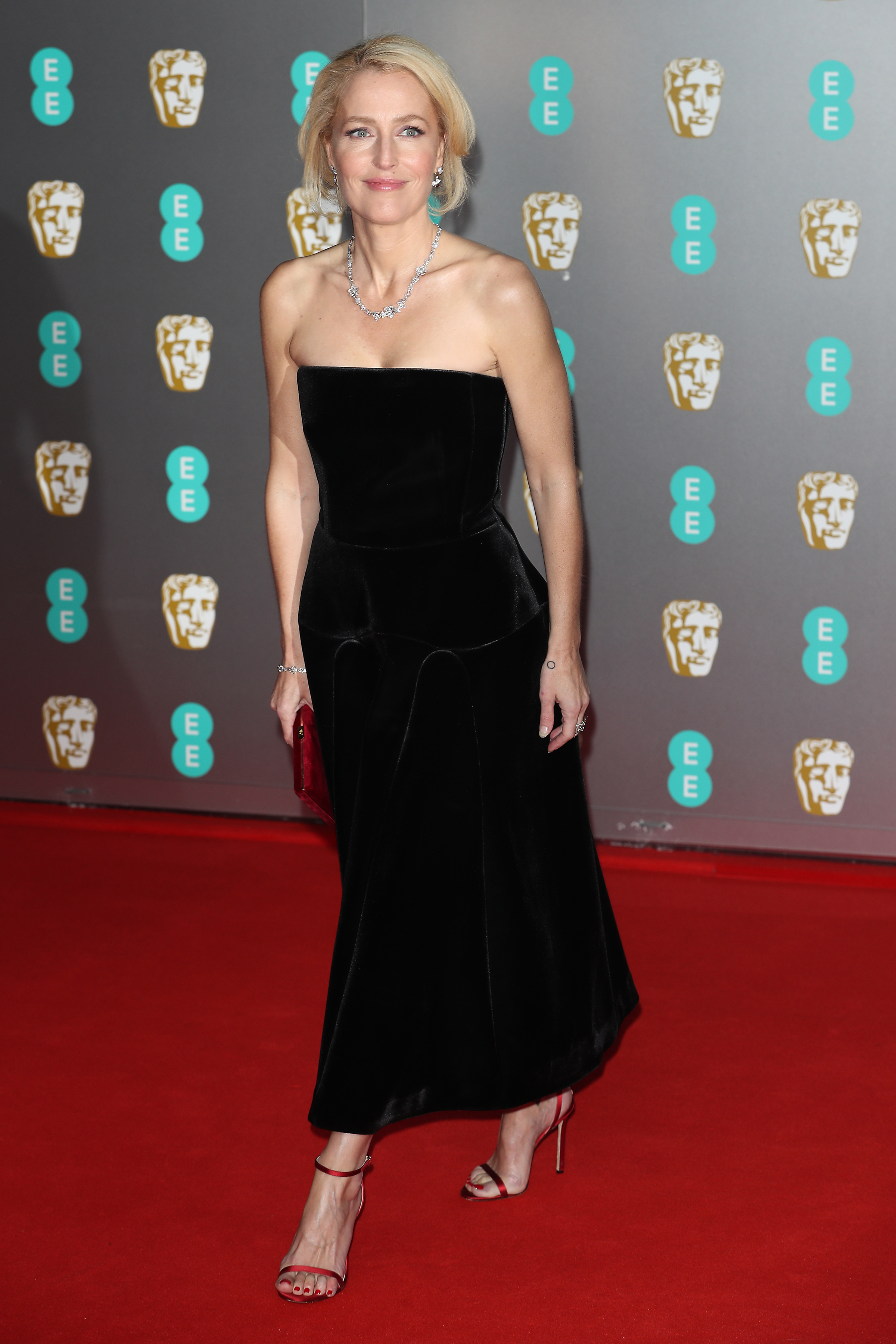 Gillian Anderson attends the British Academy Film Awards 2020 at Royal Albert Hall on February 02, 2020 in London, England.