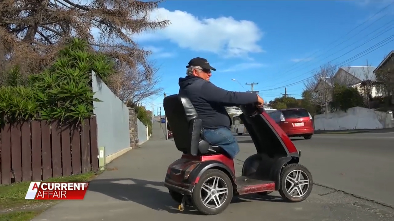 Mobility scooter madness caught on camera