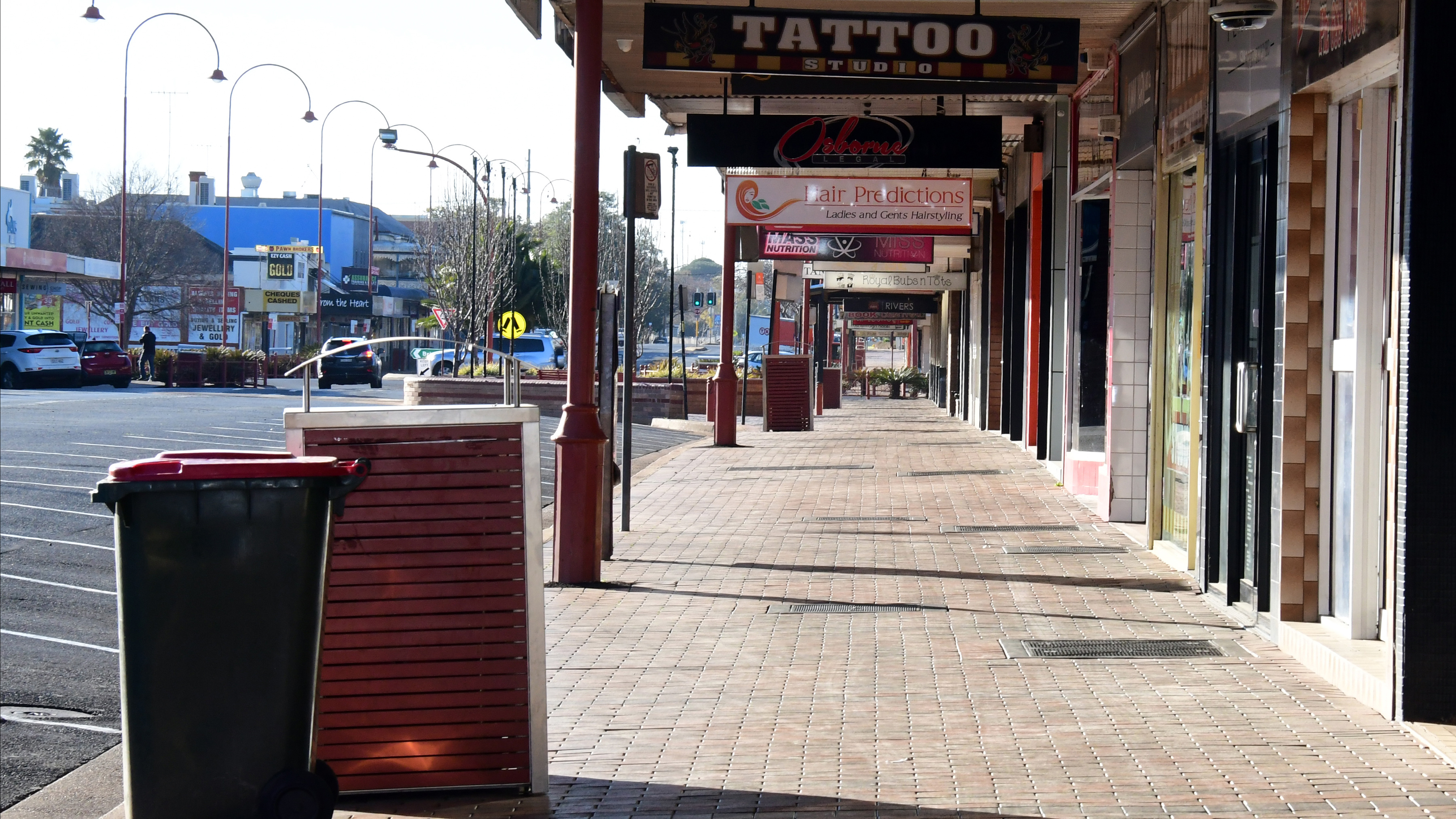A quiet street in the NSW rural town of Dubbo.