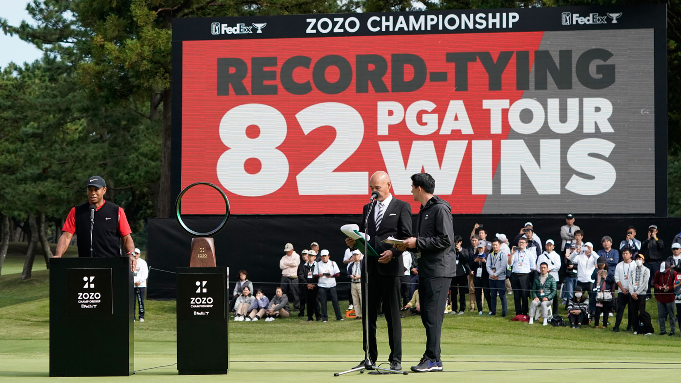 Woods on verge of record-equalling PGA Tour title win