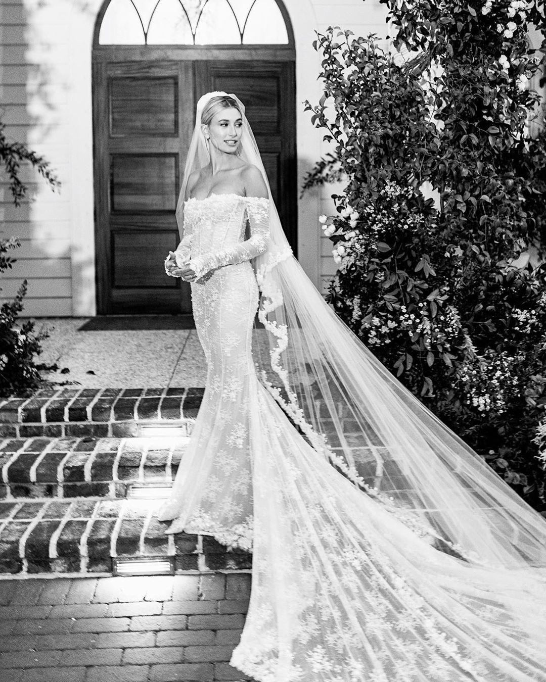 The Best Celebrity Wedding Gowns In 2019 Hailey Bieber