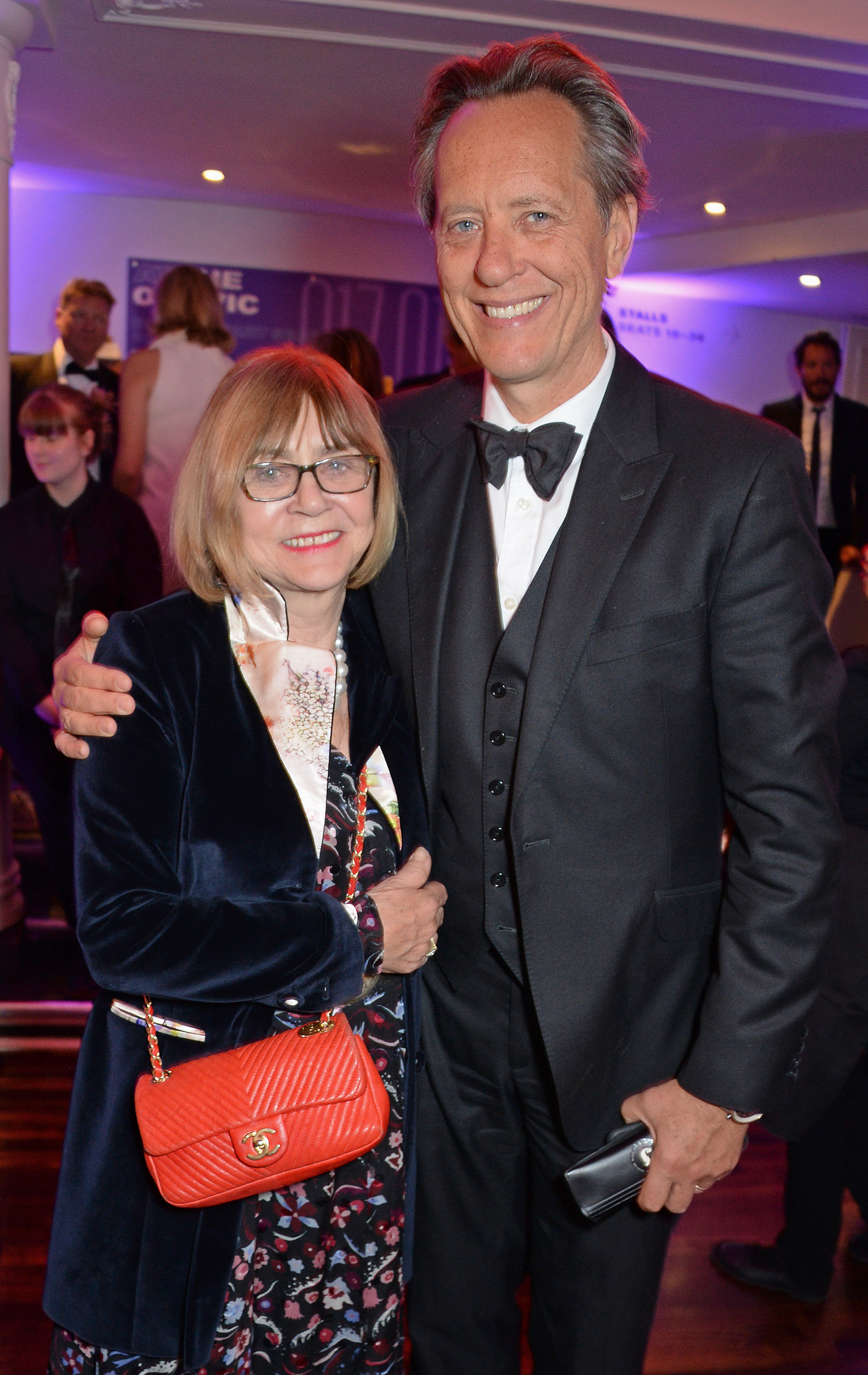 Richard E. Grant and  Joan Washington attend The Old Vic Bicentenary Ball to celebrate the theatre's 200th birthday at The Old Vic Theatre on May 13, 2018 in London, England.