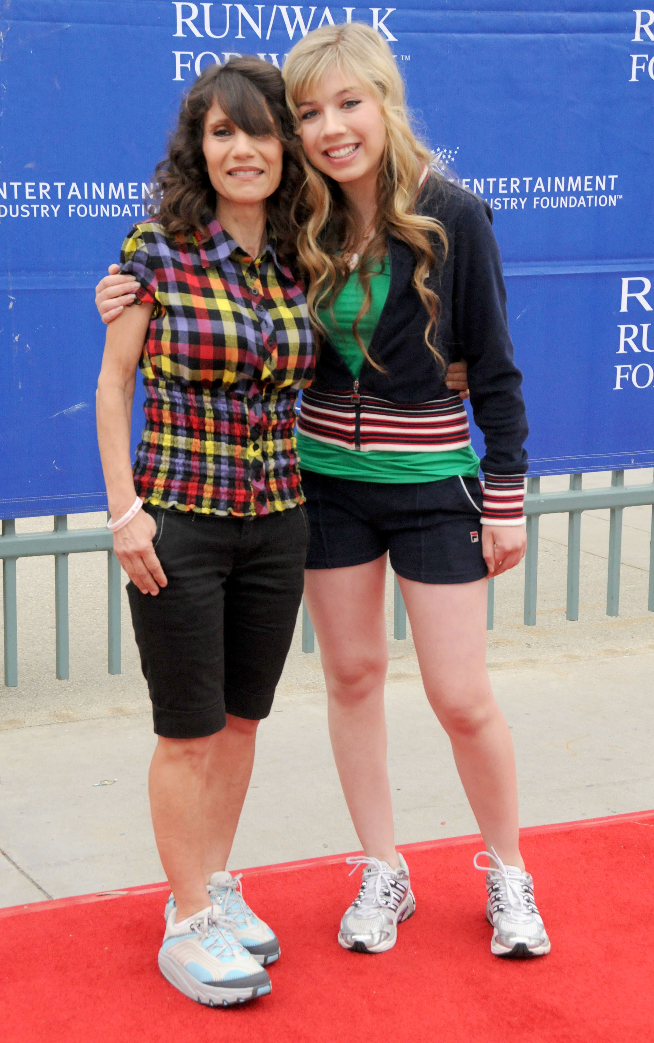 Jennette McCurdy and her Debbie McCurdy attend the 16th Annual EIF Revlon Run/Walk For Women; Held at the Los Angeles Memorial Coliseum on May 9, 2009.