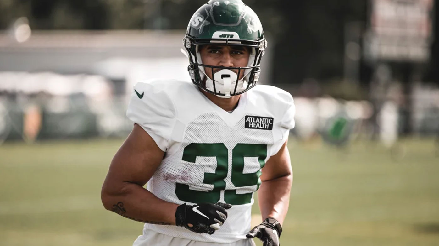 Valentine Holmes at Jets training camp
