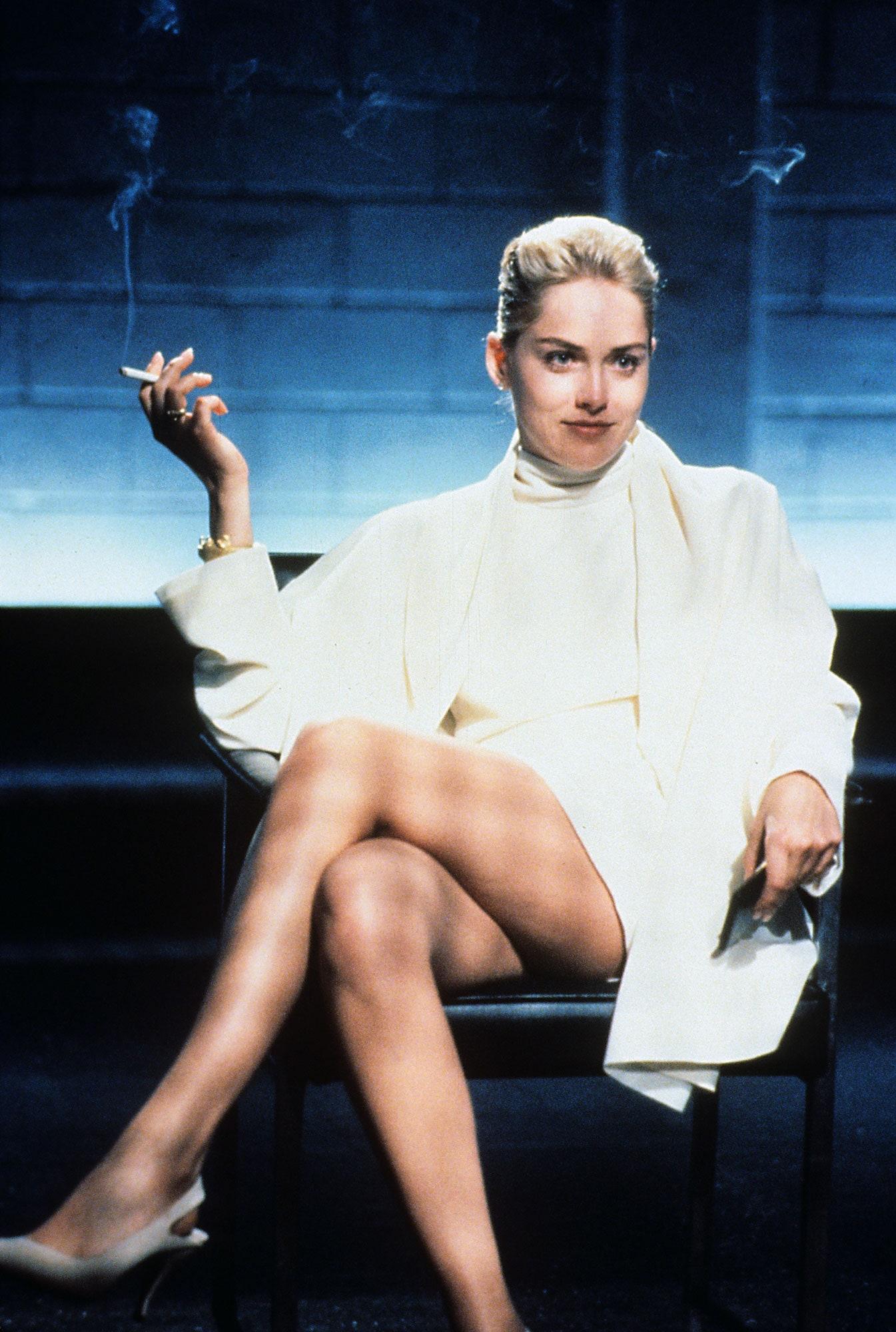 Sharon Stone in Basic Instinct.